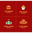 set of bright food delivery and restaurant vector image vector image