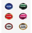 Set of close isolated button vector image vector image