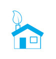 silhouette house with ecological leaf to vector image vector image