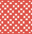 simple red and white geometric seamless pattern vector image