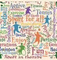 sport for all seamless tile vector image vector image