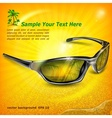 Sunglasses with reflection on vector image