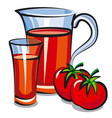 tomato juice in jar vector image vector image