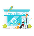 vet clinic with doctor vector image