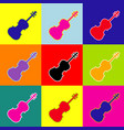 violine sign pop-art style vector image vector image