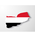 Yemen map with shadow effect vector image vector image