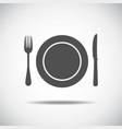 Knife plate fork vector image