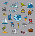 travel concept stickers vector image
