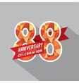 88th Years Anniversary Celebration Design vector image