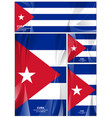 abstract cuba flag background vector image