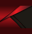 abstract red metallic overlap on grey blank space vector image vector image