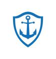 anchor concept logo icon vector image vector image