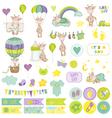 baby boy giraffe scrapbook set tags