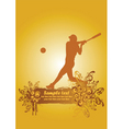 baseball poster3 vector image vector image