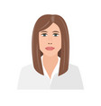 beautiful young businesswoman portrait cute vector image