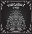 birthday cake on chalkboard vector image