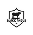 black angus cattle logo emblem design template vector image