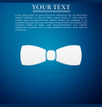 bow tie icon isolated on blue background vector image