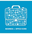 Briefcase office icons vector image