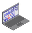 business laptop icon isometric style vector image