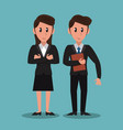 business partners cartoon vector image vector image