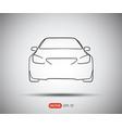 car icon flat logo vector image vector image