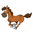Cartoon Horse Running vector image vector image