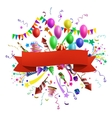 Celebration composition vector image vector image