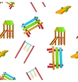 Children rides pattern cartoon style vector image vector image