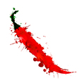 chili pepper made colorful splashes vector image vector image