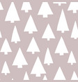 christmas tree silhouettes white gray background vector image