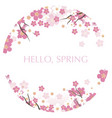 circular cherry blossom background vector image vector image
