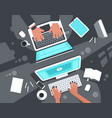 co-working concept top view vector image
