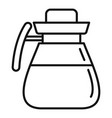coffee glass pot icon outline style vector image vector image