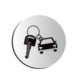 degraded button car shaped keychain icon vector image vector image