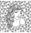 face of pretty elegant boho girl vector image vector image