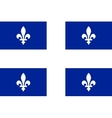 Flag of Quebec in correct proportions and colors vector image vector image