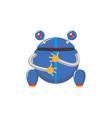 flat cartoon funny male boy robot vector image vector image
