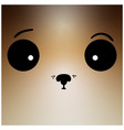 funny hand drawn puppy face vector image