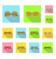 glasses and sunglasses sign vector image