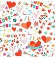 Happy Valentines Day floral seamless pattern vector image