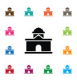 isolated residential icon building element vector image vector image