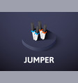 Jumper isometric icon isolated on color