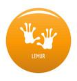 lemur step icon orange vector image vector image