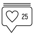 like chat message icon outline style vector image vector image