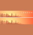 london beautiful skyline scenery banner vector image