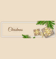 merry christmas minimal header design with xmas vector image vector image