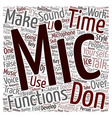 Microphone Technique text background wordcloud vector image vector image