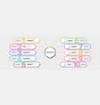 modern neon thin line infographic template ten vector image vector image