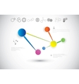 Molecule And Communication Background vector image vector image